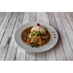 Bœuf haché sauté au basilic thaï